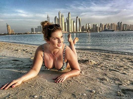 Marcela Škábová na nedávné dovolené v Dubaji