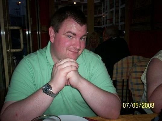 Scott v době, kdy vážil 152 kilogramů.