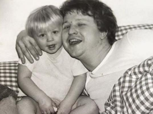 Malý Tomáš Klus s tatínkem