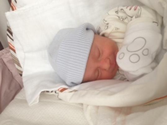 Lili krátce po narození.