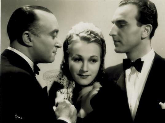 Raoul Schránil s Adinou Mandlovou a Oldřichem Novým v nesmrtelném Kristiánovi (1939).