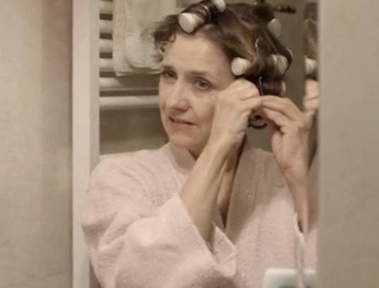Veronika Freimanová v natáčkách.