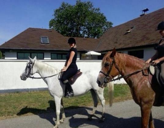 Ornella má koně moc ráda.