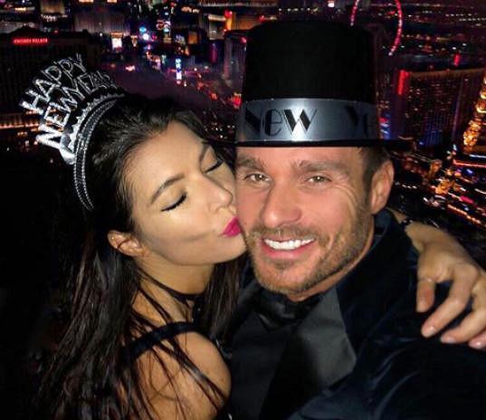 Leoš Mareš a Monika Koblížková v Las Vegas
