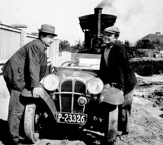 Jan Werich a Jiří Voskovec ve filmu Hej, rup!