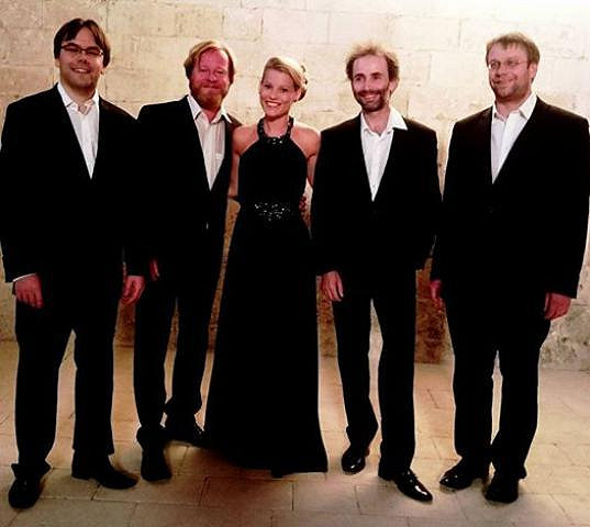 Míša po koncertu se Zemlinsky kvartetem na festivalu Festival International de Quatuors à Cordes du Luberon