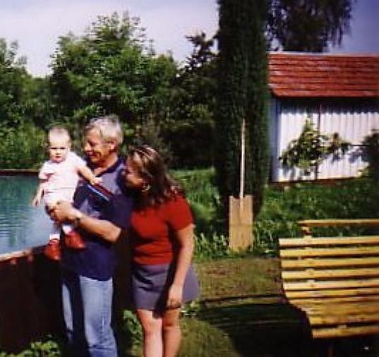 Romana s tatínkem a dcerou Nikolou