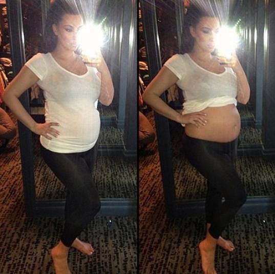 Kim Kardashian je v šestém měsíci těhotenství.