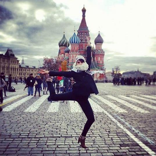 Gábina si pozornost v Rusku užívá.