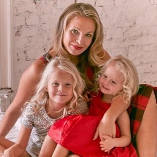 Michaela Badinková s dcerami