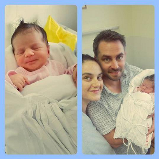 Jejich vnučka Ela s rodiči Libuškou a Zdeňkem Rohlíčkovými
