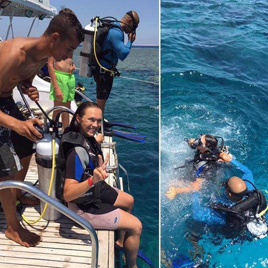 Kamila se poprvé v životě potápěla.