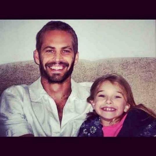Paul Walker s dcerou na archivním snímku