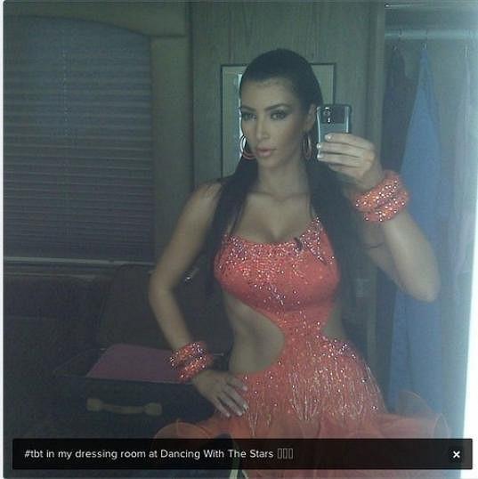 Kim Kardashian byla v době, kdy tančila v televizní soutěži, opravdu štíhlounká.
