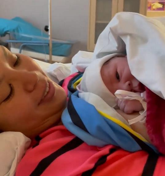 Monika Leová má dceru Miu.