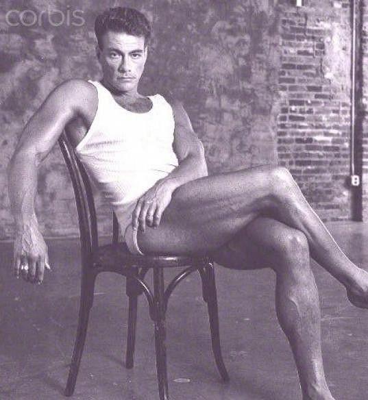 Jean-Claude Van Damme se vždy rád vystavoval.