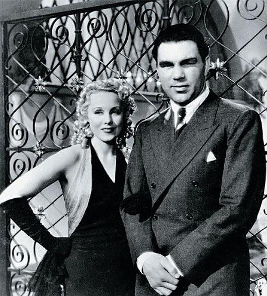 Anny a Max při natáčení jejího posledního českého filmu Důvod k rozvodu (1937).