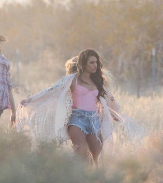 Lea Michele s epři natáčení rozdováděla...