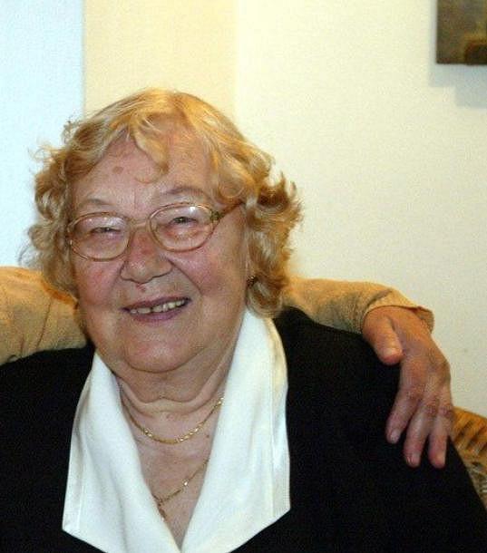 Růžena Trošková na vzpomínkové akci před třinácti lety