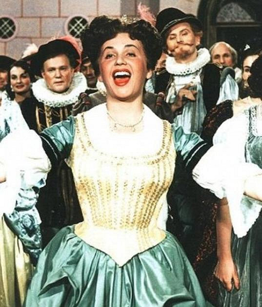 Stella Májová jako princezna Zpěvanka v pohádce Byl jednou jeden král
