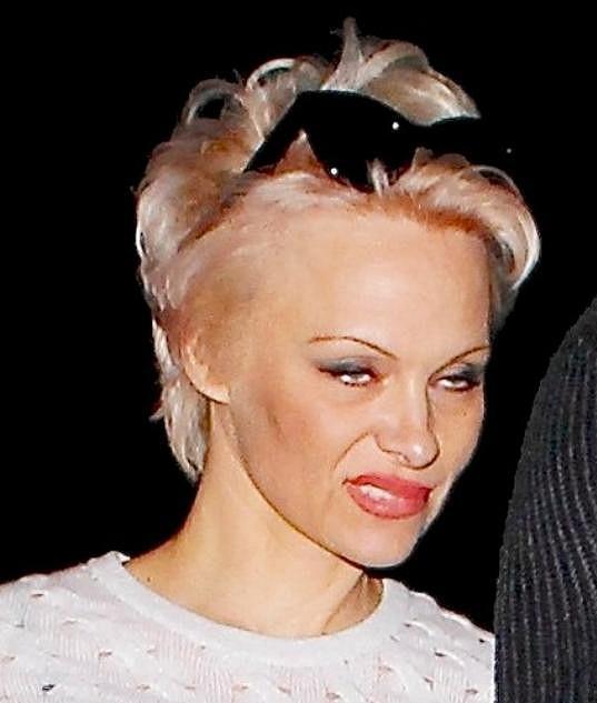 Pamela Anderson neměla nejlepší náladu.