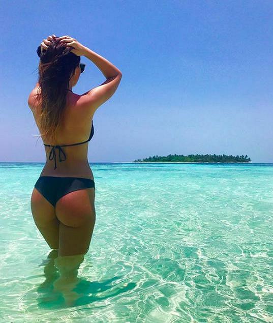 Veronika Nízlová na Maledivách