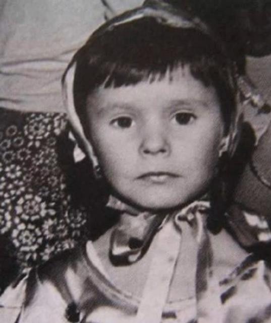 Monika Absolonová jako malá holčička.