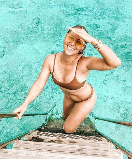 Dominika Cibulková relaxuje na Maledivách.