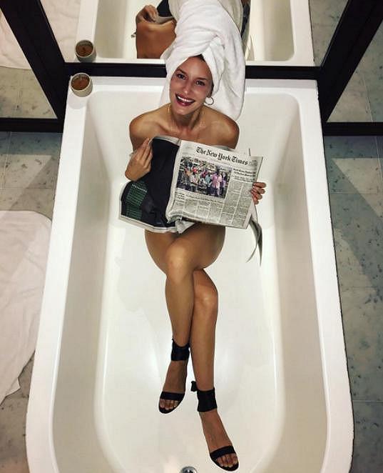A tady znovu ve vaně