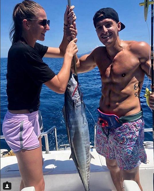 Karolína Plíšková a Michal Hrdlička rybařili.