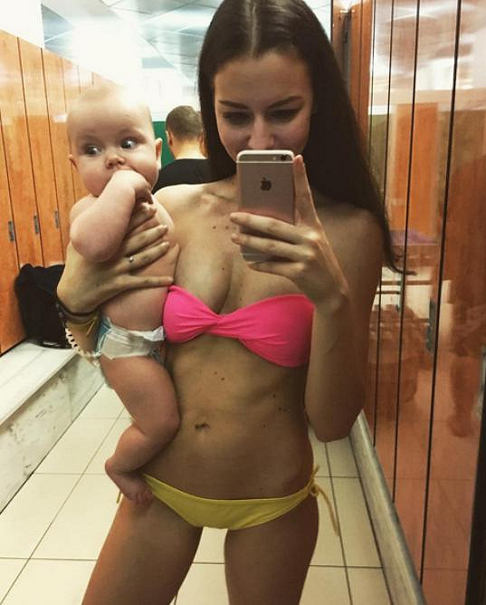 Výbornou figuru měla už krátce po porodu.