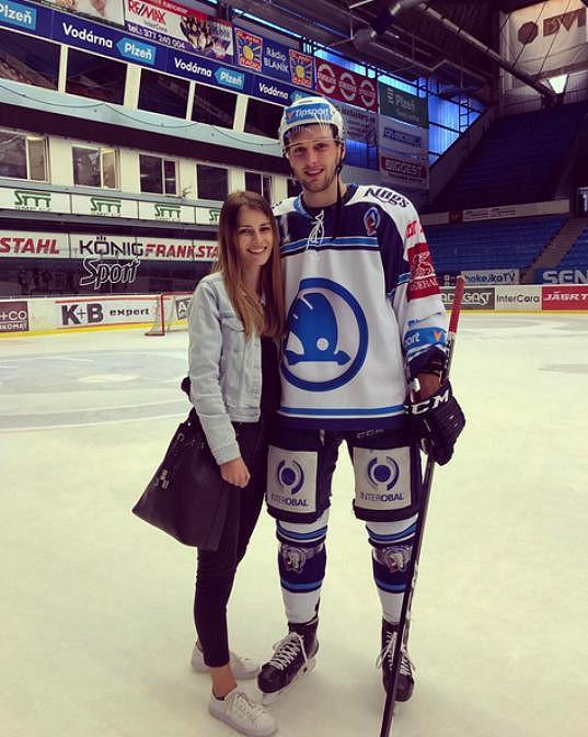 Veronika s přítelem Martinem Procházkou