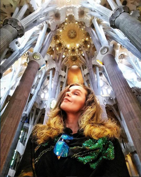 V chrámu Sagrada Família v Barceloně