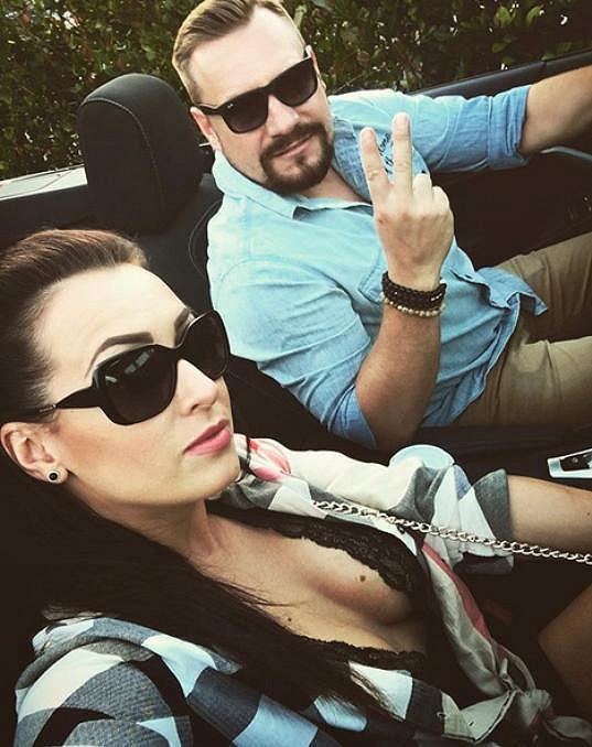 Veronika Farářová s manželem