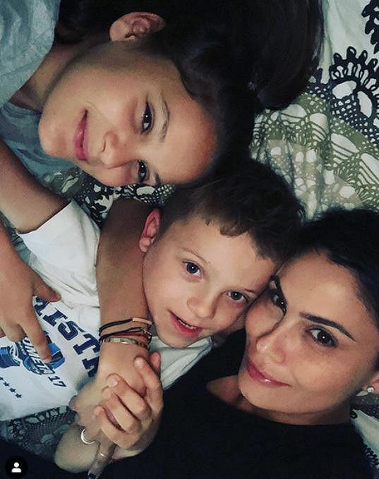 Vlaďka Erbová s dcerou Viktorkou a synem Markusem
