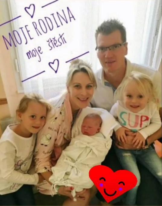 Kateřina s rodinou