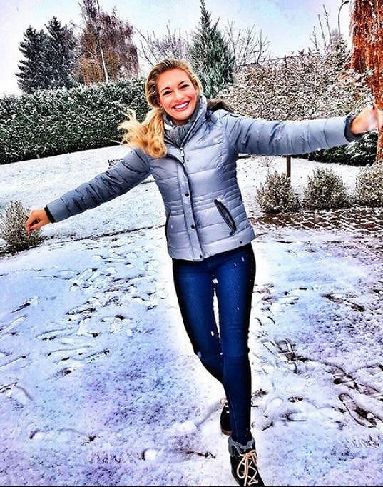 Po návratu z dovolené už vítala první sníh.
