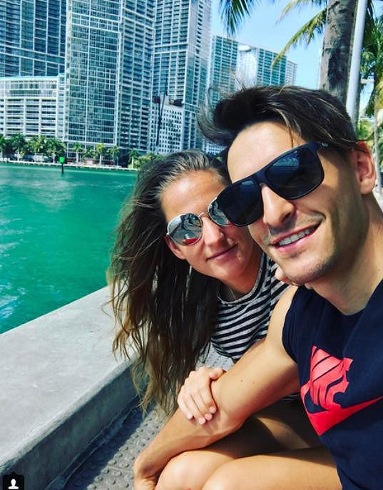 Michal Hrdlička na snídani v Miami s Karolínou Plíškovou