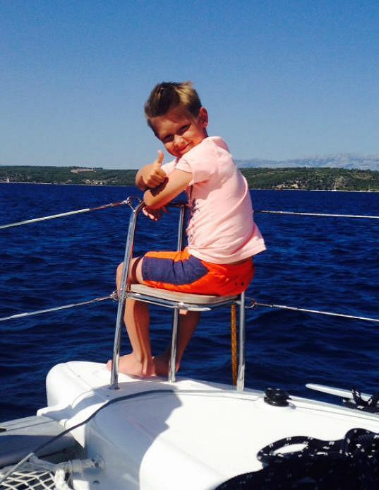 Kristian si plavení po Chorvatsku užil.