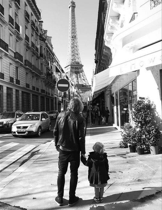 Tomáš s dcerou Josefínou