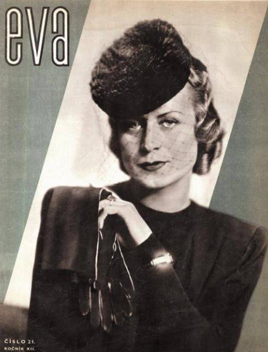 Eliška na obálce oblíbeného ženského časopisu. V té době patřila k nejlépe oblékaným herečkám v Praze.