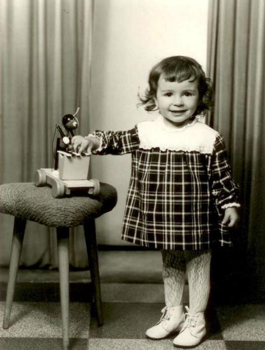 Nela Boudová jako roztomilá holčička.
