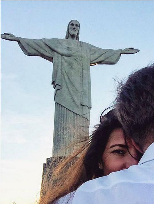 Pochopitelně proběhla i návštěva sochy Krista Spasitele.