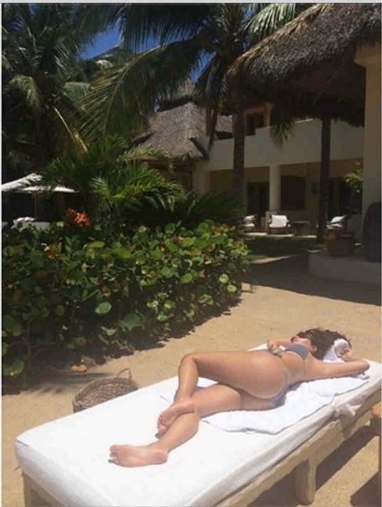 Kim si užívá další dovolenou v Mexiku.