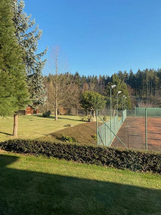Může si zahrát tenis na vlastním hřišti.