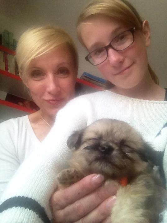 Renata Drössler s dcerou Natálkou a Kulíkem
