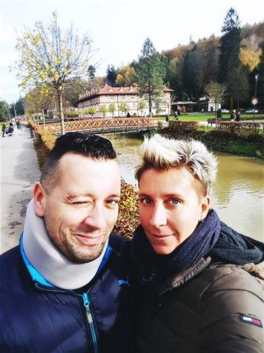 Michal Kavalčík s partnerkou