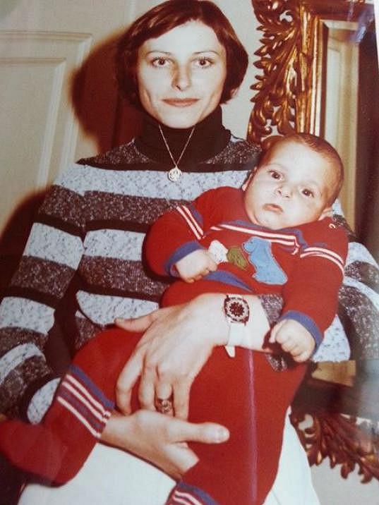 Radim Schwab s maminkou