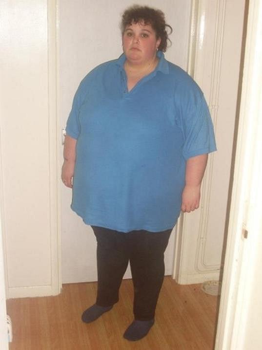 Angličanka v době, kdy měla pořádnou nadváhu.