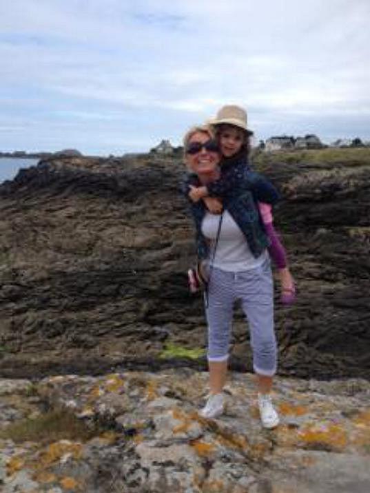 Lucie s dcerkou Larou, již má s Tomášem Matonohou.